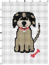 Puppy Dog Counted Cross Stitch Kit